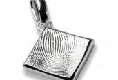 Fingerprint-Anhänger oval - Bestattung G. Ried, Wien